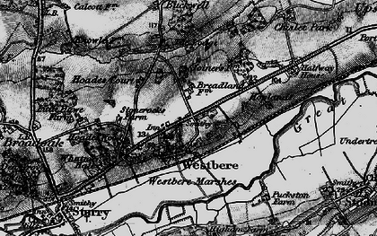 Old map of Westbere in 1895