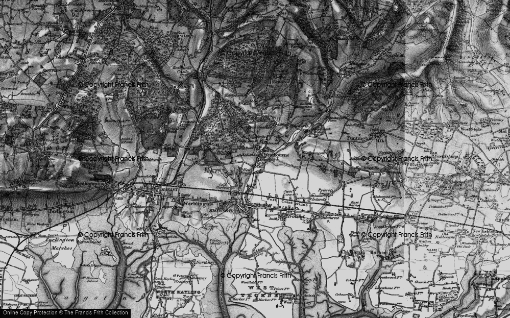 Old Map of Historic Map covering Aldsworth in 1895
