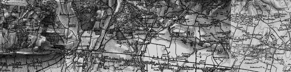 Old map of Aldsworth in 1895