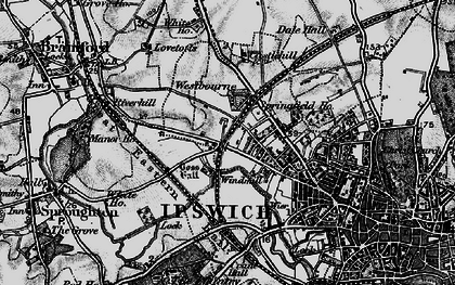 Old map of Westbourne in 1896