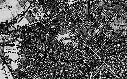 Old map of Westbourne Green in 1896