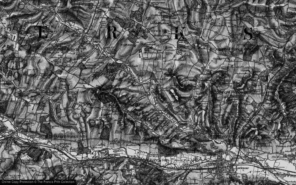 Old Map of Westbrook, 1895 in 1895