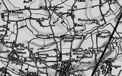 Old map of Westbrook Green in 1898