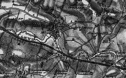 Old map of Westbury in 1896