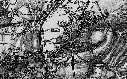 Old map of Westbury in 1898