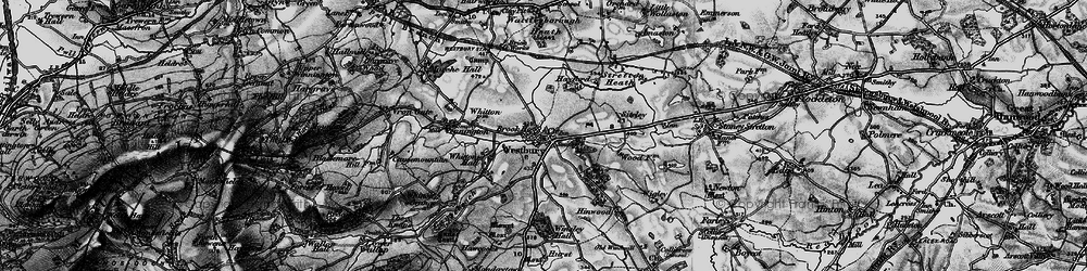 Old map of Westbury in 1899