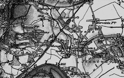 Old map of Adsett Court in 1896