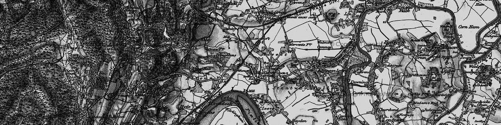Old map of Adsett in 1896
