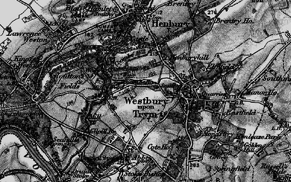 Old map of Westbury on Trym in 1898