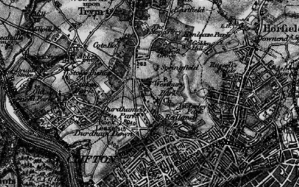 Old map of Westbury Park in 1898