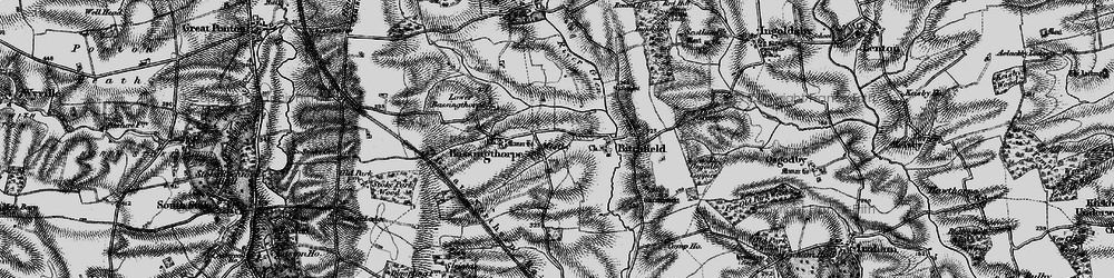 Old map of Westby in 1895