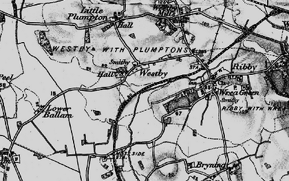 Old map of Westby in 1896