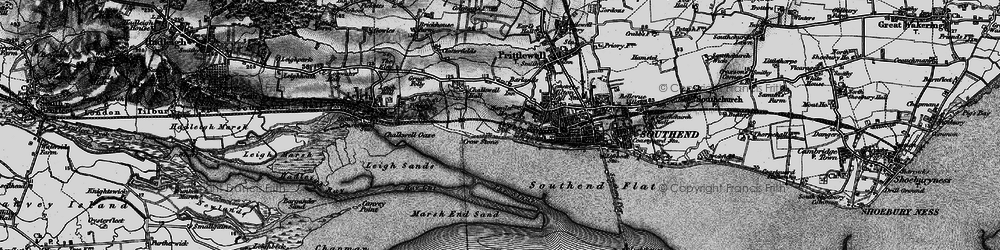Old map of Westcliff-on-Sea in 1896