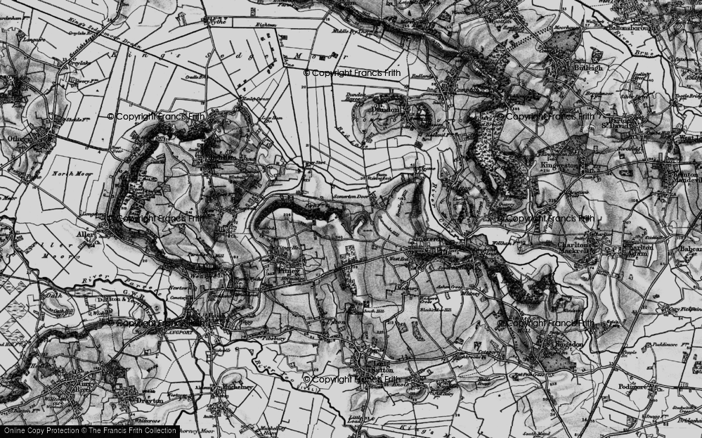 Old Map of Historic Map covering Bancombe Hill in 1898