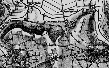 Old map of Bancombe Hill in 1898