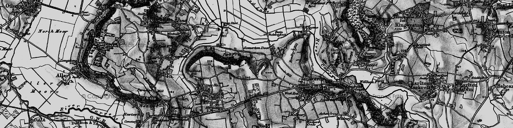 Old map of Whiscombe Hill in 1898