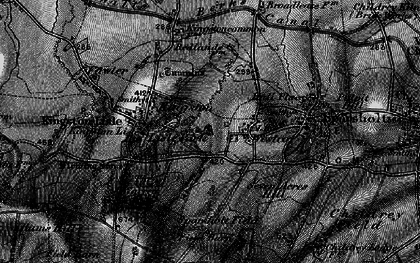 Old map of Westcot in 1895