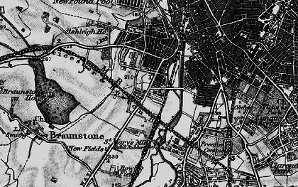 Old map of Westcotes in 1899
