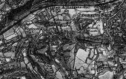 Old map of Westcott in 1896