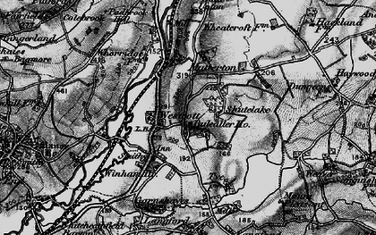 Old map of Westcott in 1898