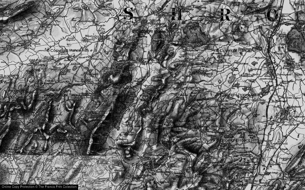 Old Map of Westcott, 1899 in 1899
