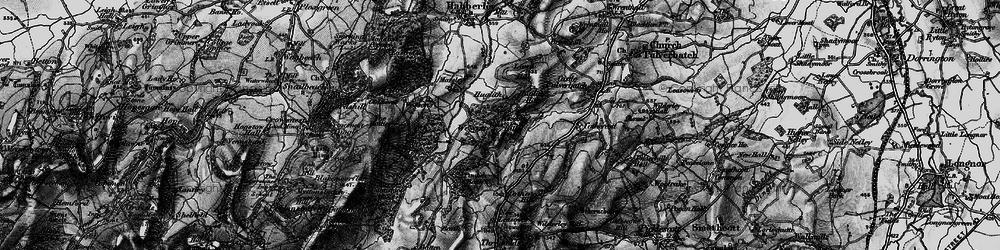 Old map of Westcott Hill in 1899