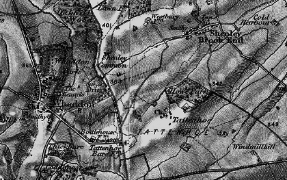 Old map of Westcroft in 1896