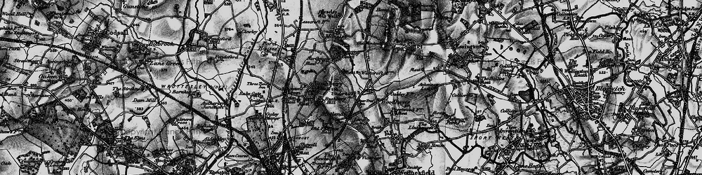 Old map of Westcroft in 1899
