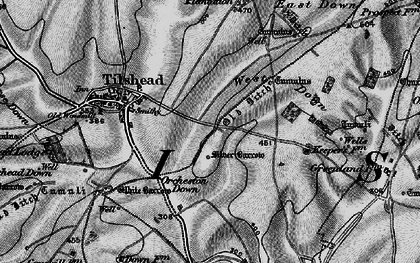 Old map of Westdown Camp in 1898