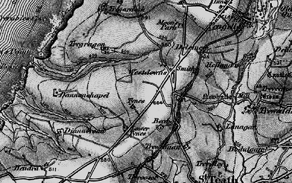 Old map of Westdowns in 1895