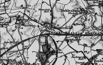 Old map of Westerfield in 1896