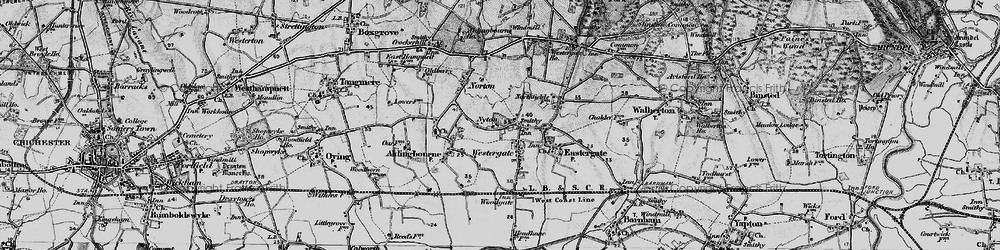 Old map of Westergate in 1895