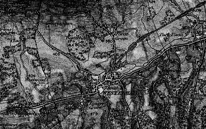Old map of Westerham Wood in 1895
