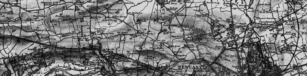 Old map of Westerhope in 1897