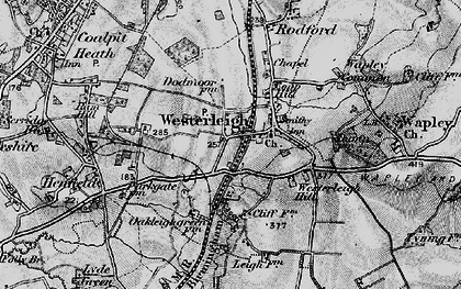 Old map of Westerleigh in 1898