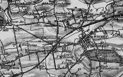Old map of Western Bank in 1897