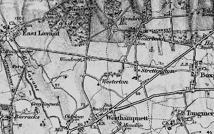 Old map of Westerton in 1895