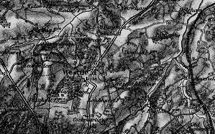 Old map of Whiteland Wood in 1895