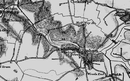 Old map of Westgate in 1899