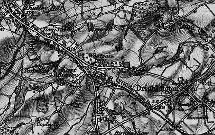 Old map of Westgate Hill in 1896