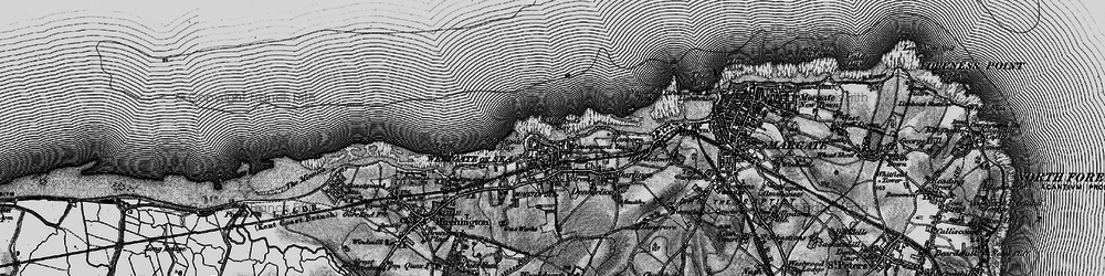 Old map of Westgate on Sea in 1895