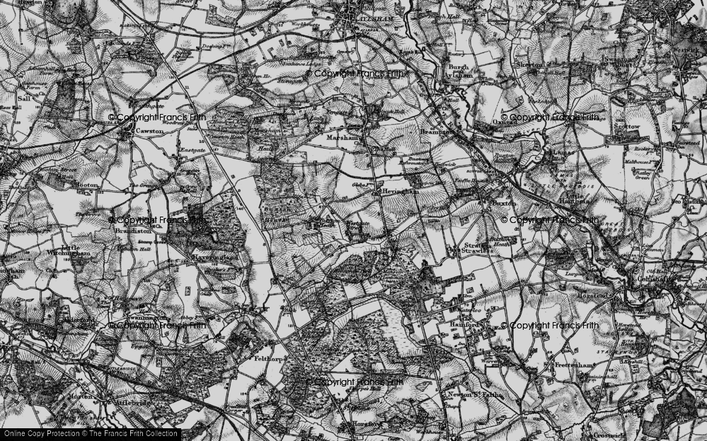 Old Map of Westgate Street, 1898 in 1898