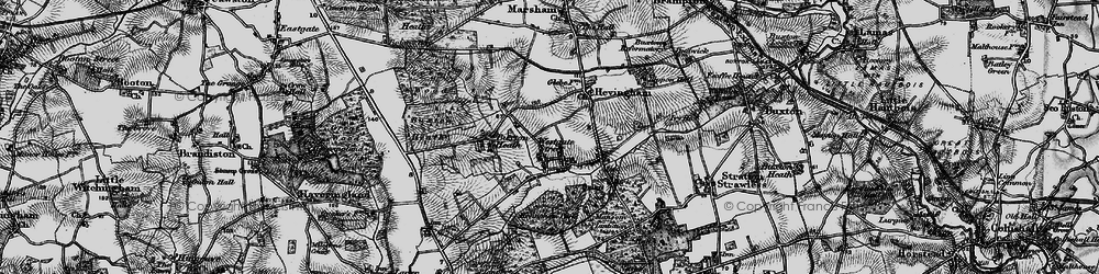 Old map of Westgate Street in 1898