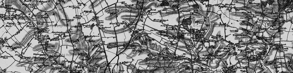 Old map of Westhall in 1898
