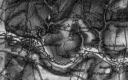 Old map of Westhall Hill in 1896