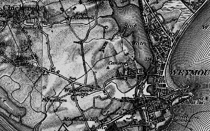 Old map of Westham in 1897