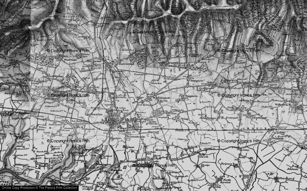 Old Map of Westhampnett, 1895 in 1895