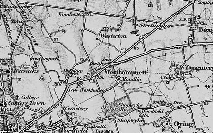 Old map of Westhampnett in 1895