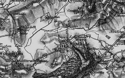 Old map of Westhide in 1898