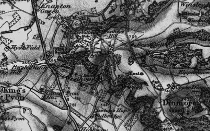Old map of Westhope in 1898